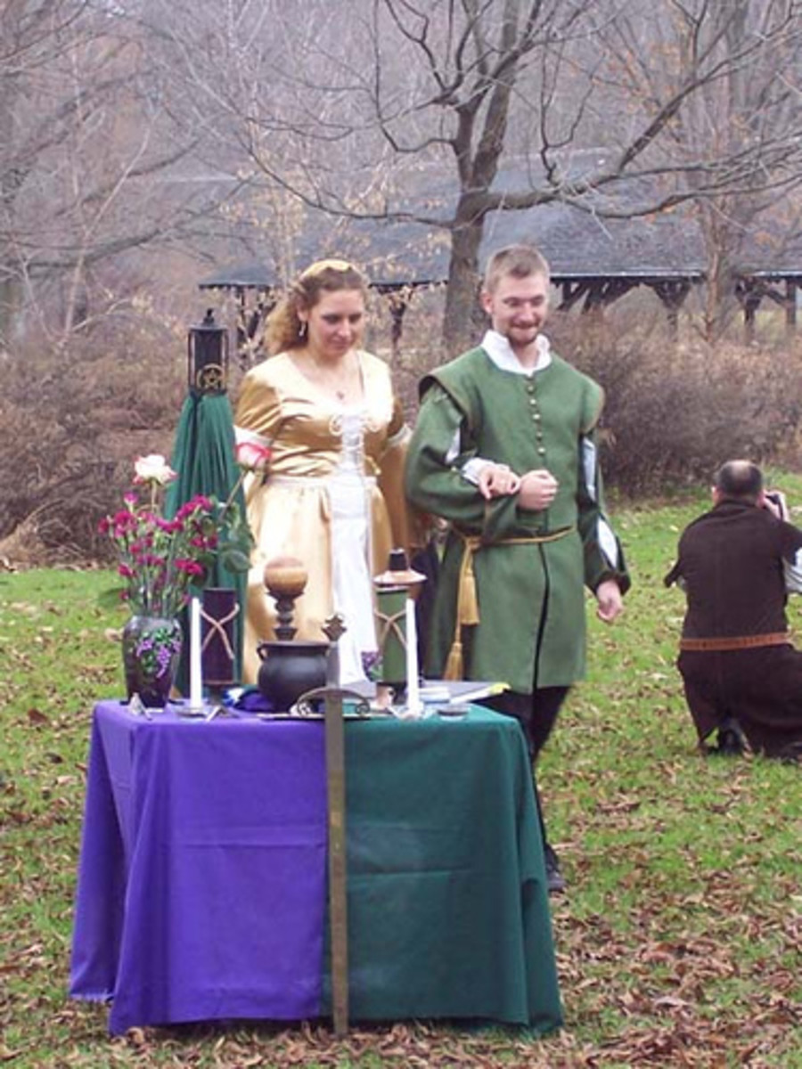 A Wicca wedding.