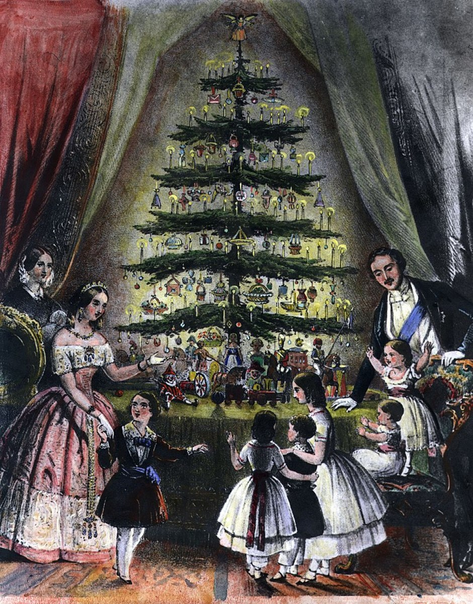 Queen Victoria and Prince Albert, although probably unaware of its pagan origins, popularized the Christmas tree in 1840.