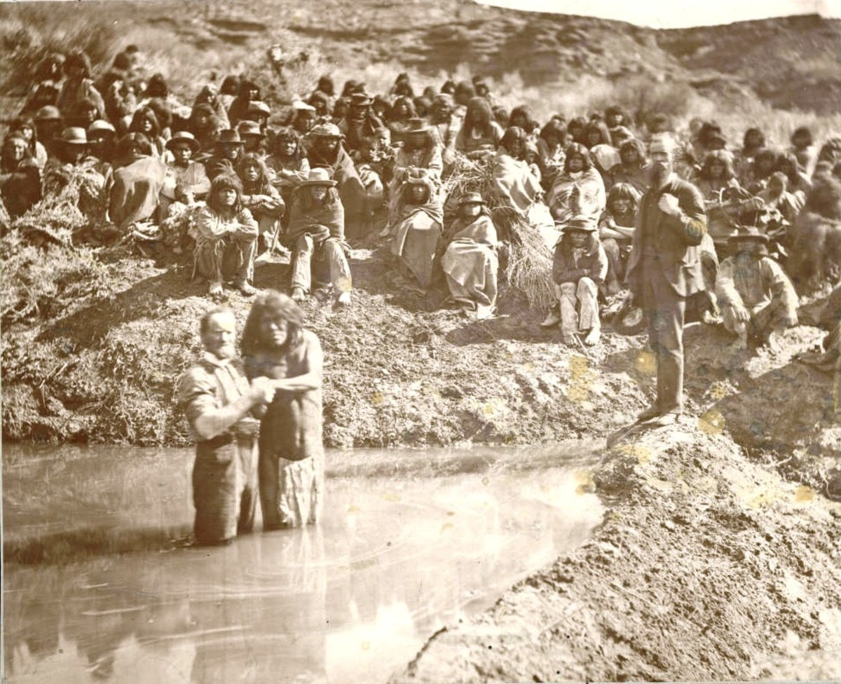 The Baptism of Shivwits Indians in Utah in 1875.