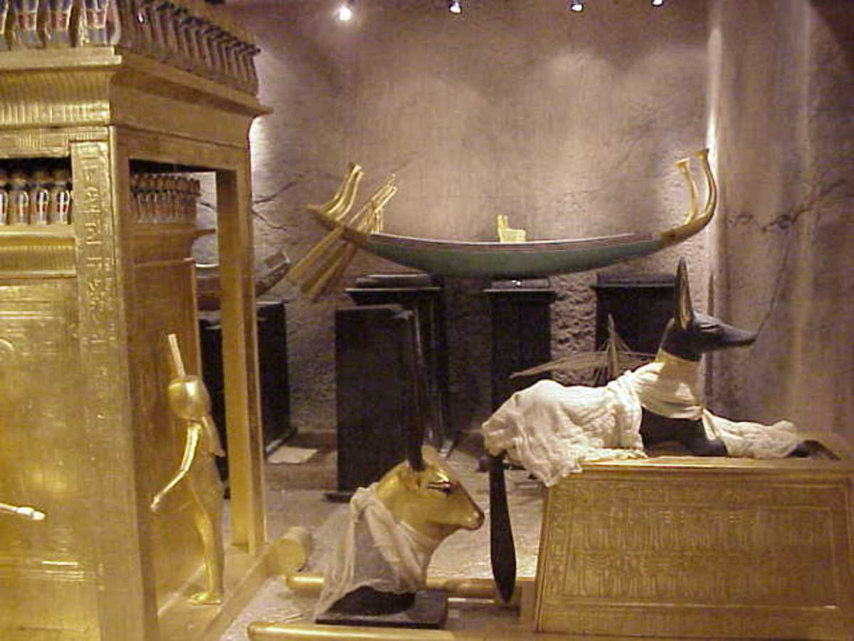Egyptian pharaohs were buried with all the things they would need to sustain them in their afterlife.