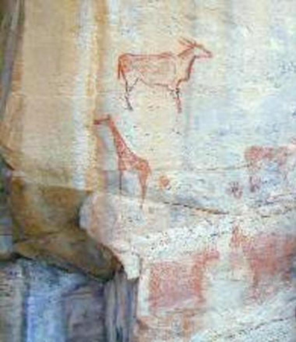One of more than 4,500 rock paintings in the Tsodilo Hills site.