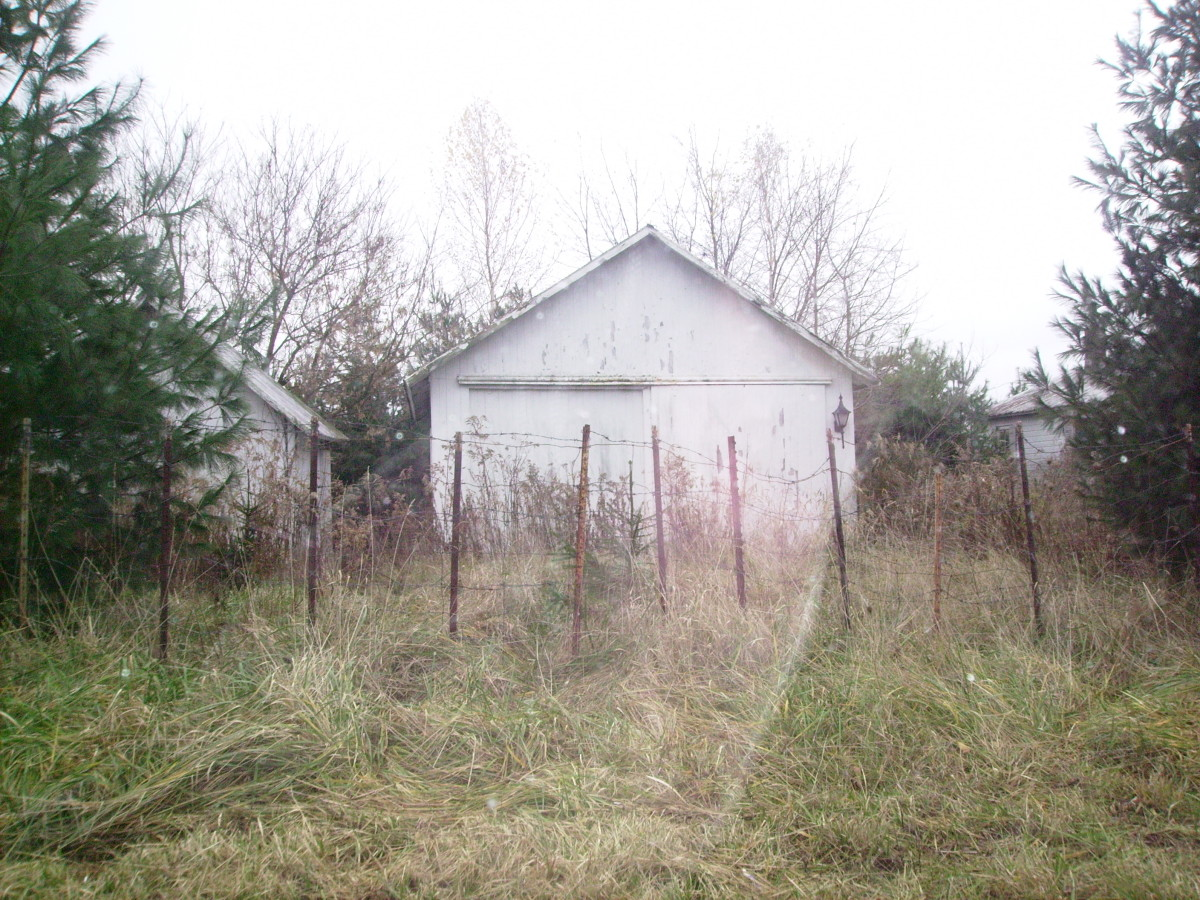 This is a shed that stood on the Hooker brother's property next to their house.