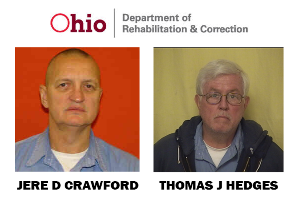 Mugshots of Jere D Crawford and Thomas J Hedges