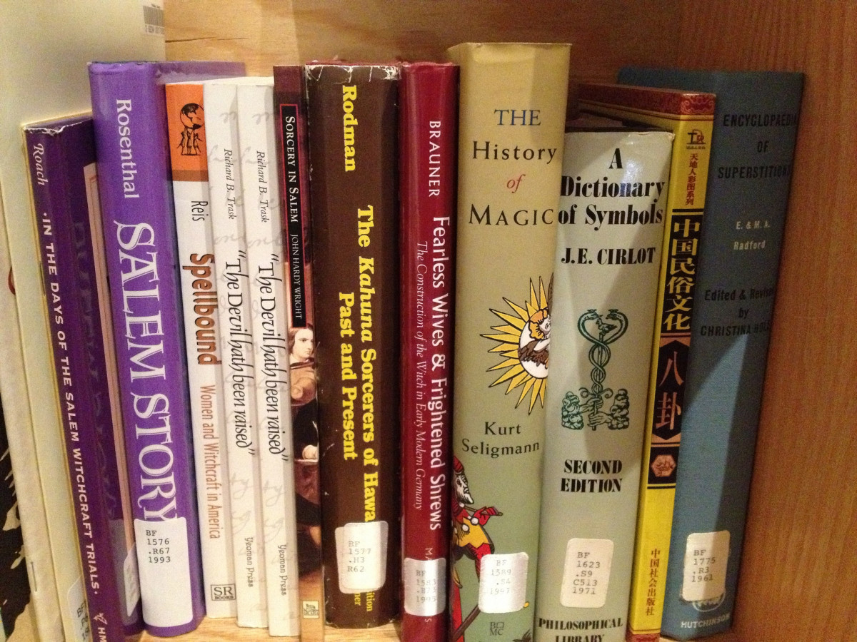 It's good to build a good resource library for yourself. (These aren't my books, mine are in storage until I move.)