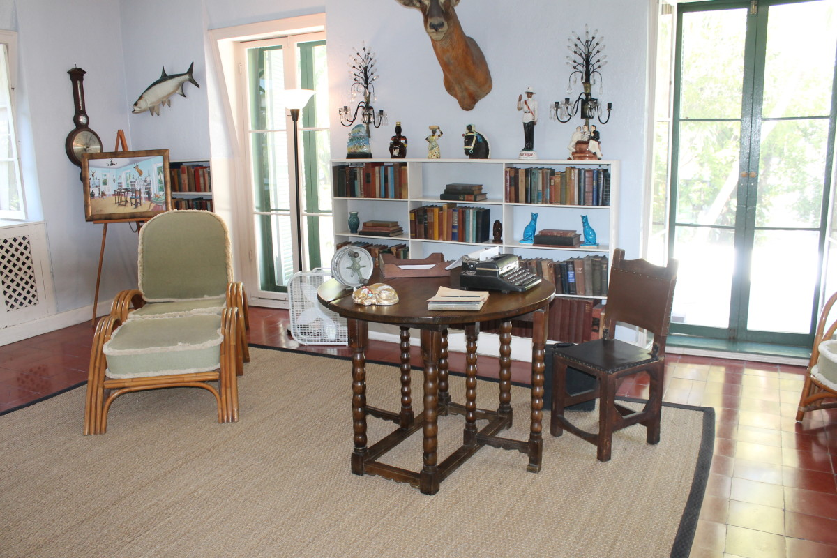 Ernest Hemingway's writing room in his Key West home.