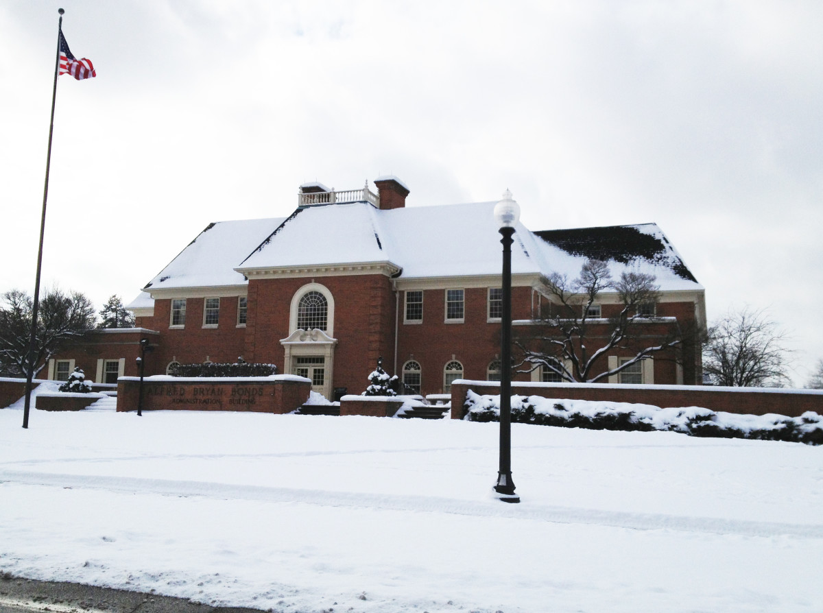 Bonds Hall on Baldwin Wallace University, South Campus. 3 February 2013. A local resident of Berea, OH has reported seeing an apparition outside of Bonds Hall on the Baldwin-Wallace University campus on during winter nights.