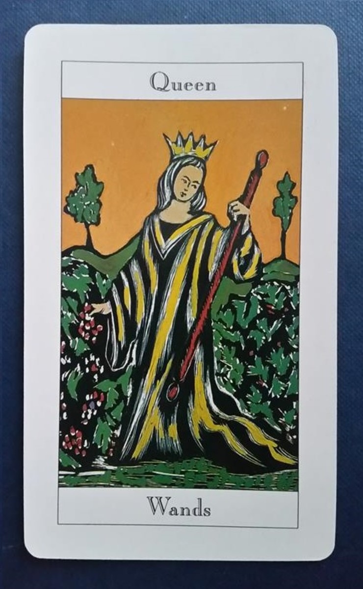 The Queen of Wands from my Tarot deck