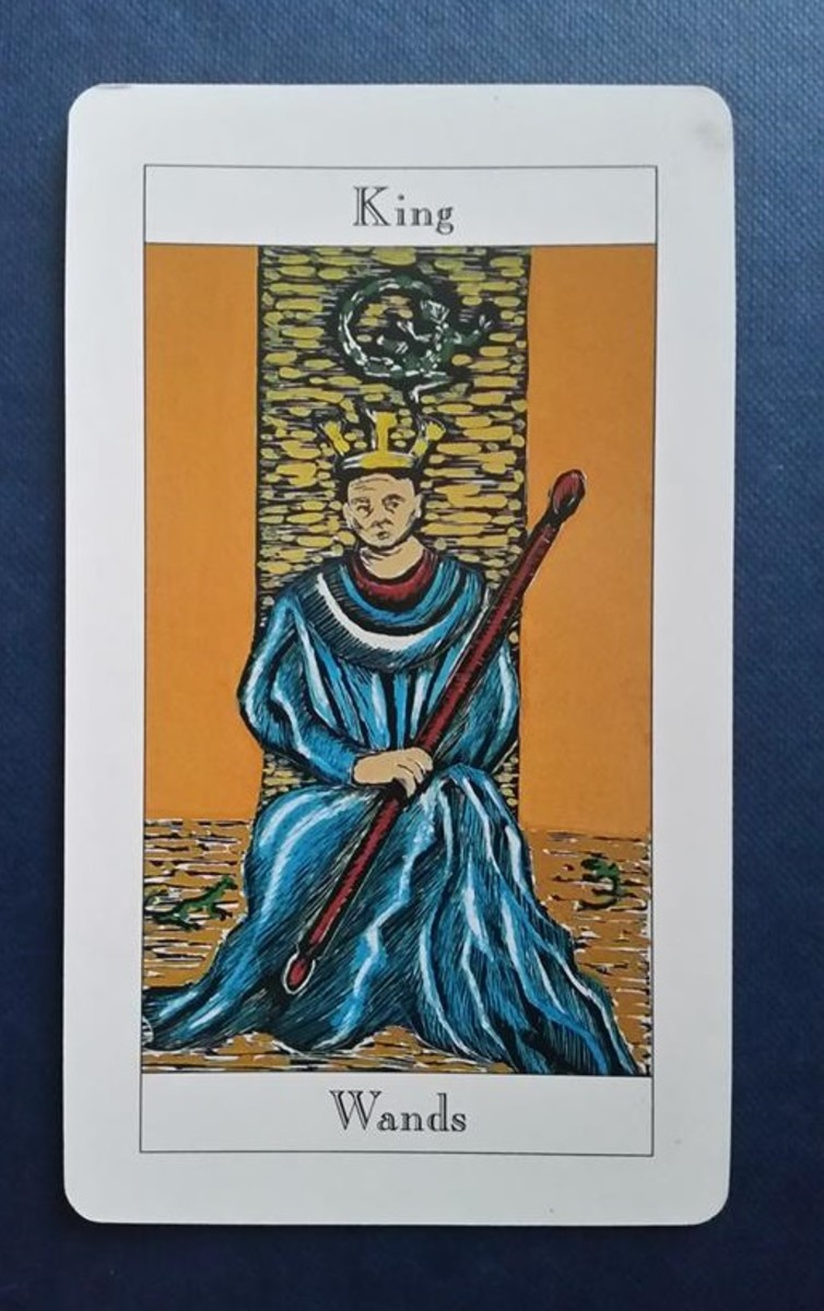 The King of Wands from my Tarot deck