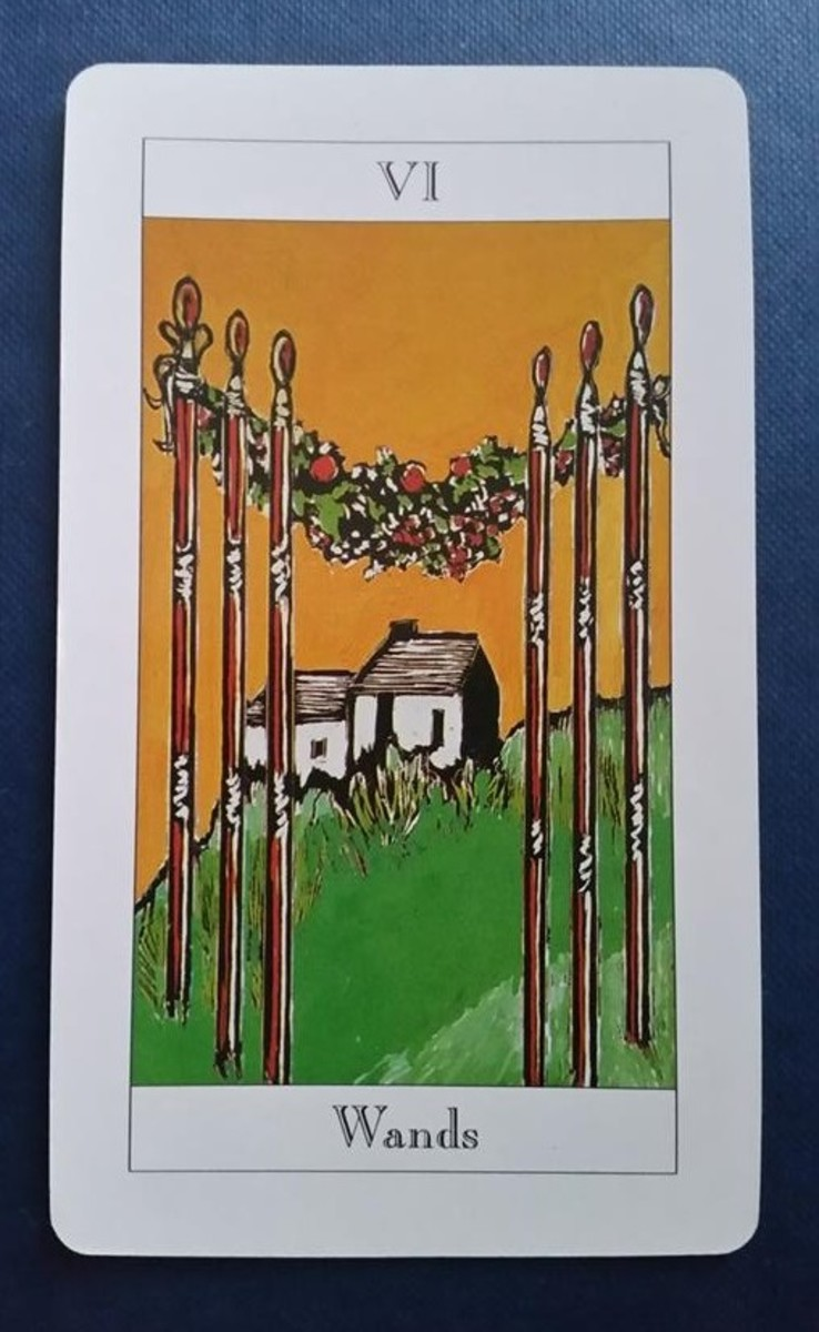 The Six of Wands from my Tarot deck