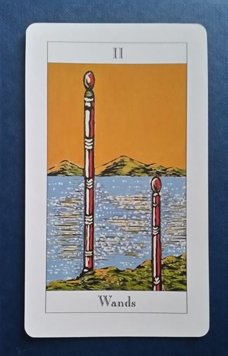 The Two of Wands from my Tarot deck
