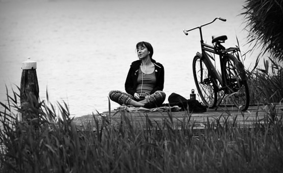 You can meditate anytime or anywhere. It's particularly nice when you find a quiet place outdoors.
