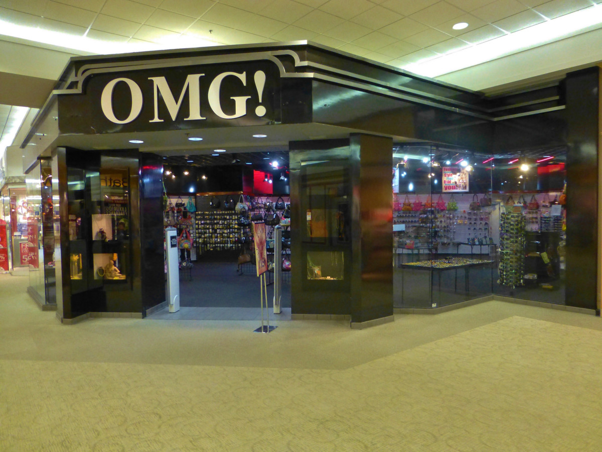 A store called OMG! in the Sandusky Mall. This is where Suncoast used to be located. This is where the security guard supposedly saw the Lady and Red disappear.