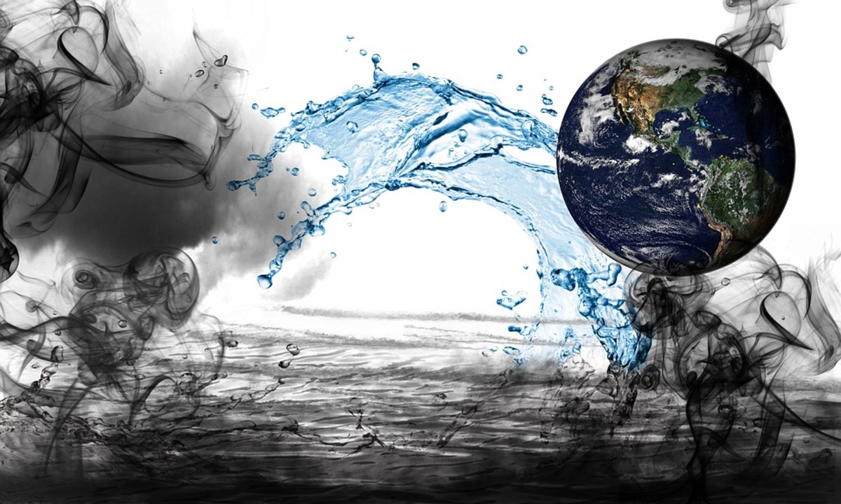 Water is held onto the planet's surface by Earth's gravitational pull.