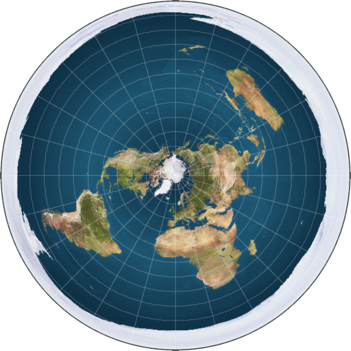 Modern Map of the 'Flat' Earth