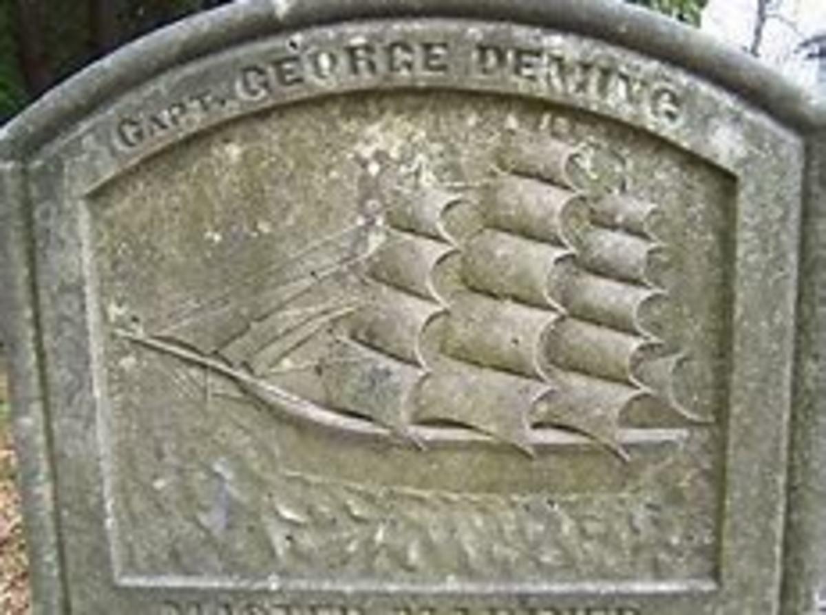 George Deming's headstone.