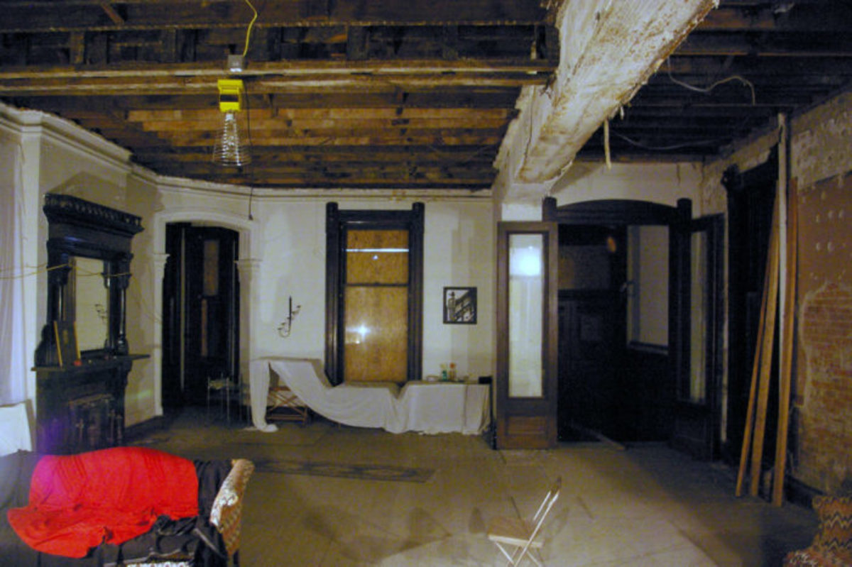 The interior of the house after the Romano family left.