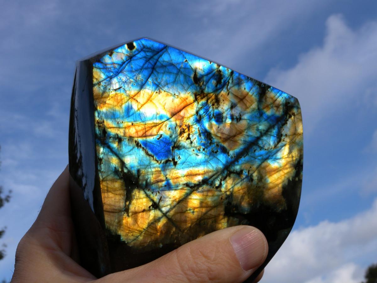 Labradorite is a form of feldspar.