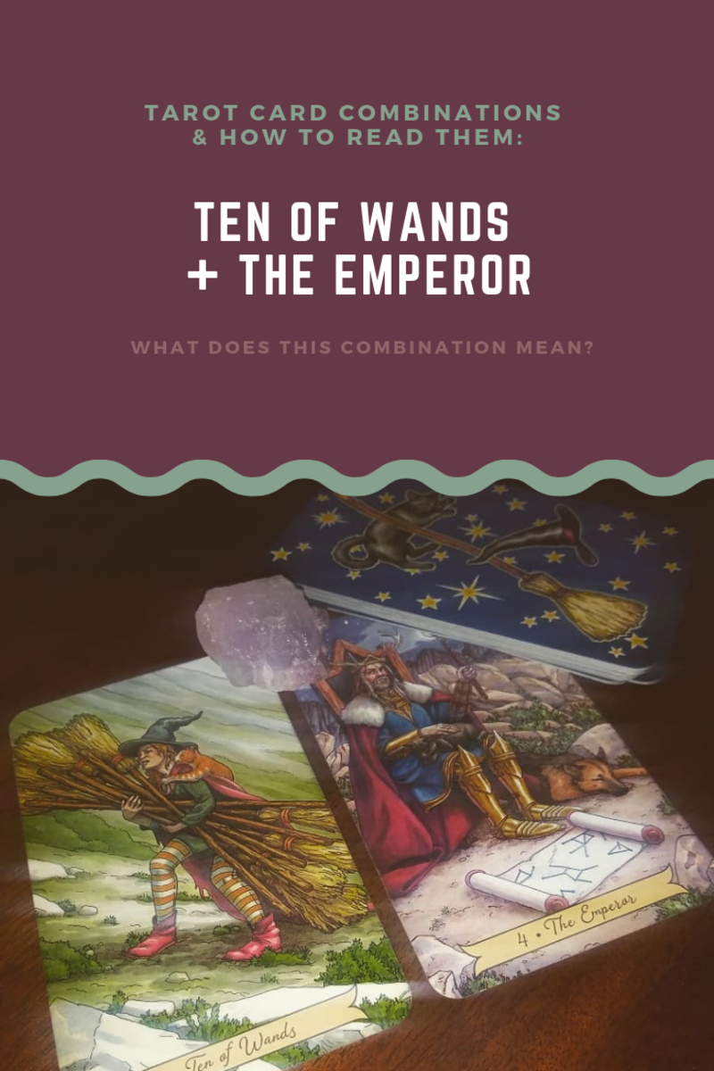 It can be difficult to learn to read tarot card combinations, even for experienced readers! Here, we'll study four ways the Ten of Wands and the Emperor can be combined with one another and how to interpret these combinations.