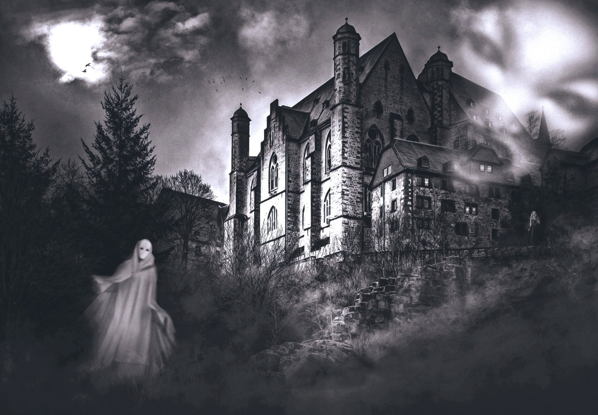 Creepy places like this building pictured are often the site of ghost-sightings, largely because people expect to see ghouls and spirits in old, 'haunted' mansions.