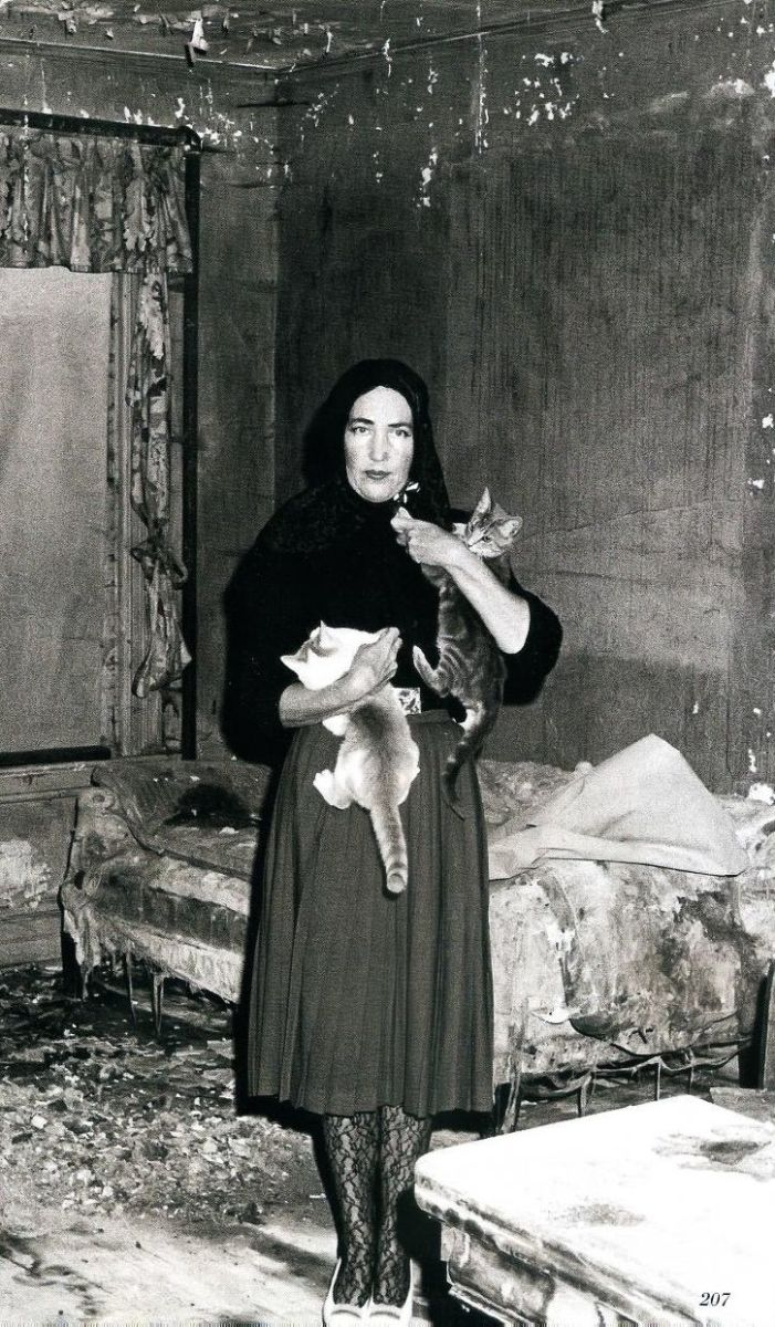 """""""Little Edie"""" Beale, a Scorpio, is shown in her home at the time the cult movie """"Grey Gardens"""" (1975), a documentary, was being filmed there by the Maysles brothers."""