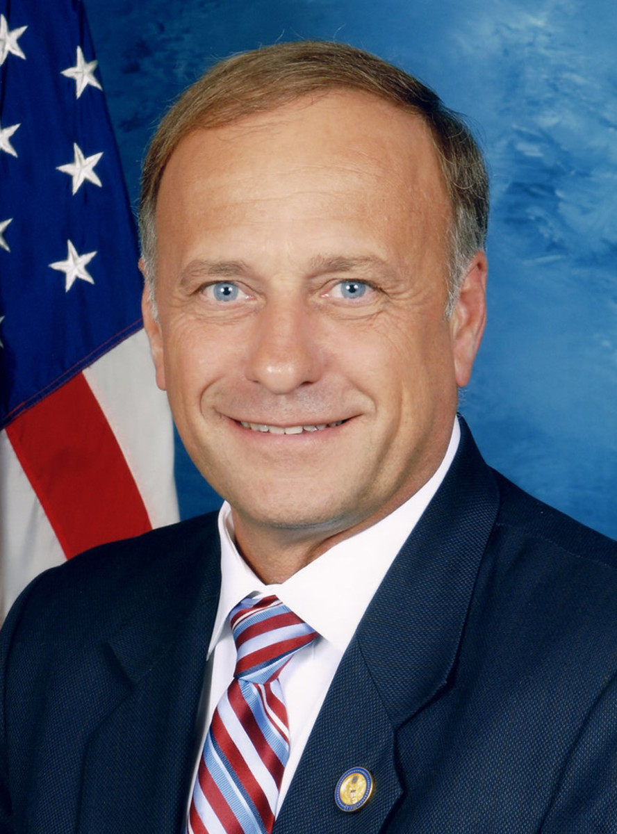 "Rep. Steve King (born May 28) has race issues. He was concerned about the ""optics"" of having Obama as president and in Nov. 2018 called Mexican immigrants ""dirt"" and then denied that he said it until reporters played back the tape."