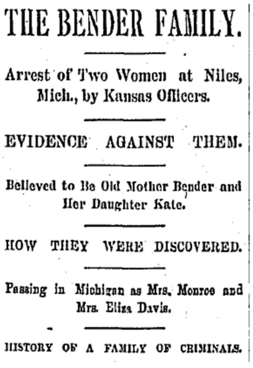A newspaper report of an apparent arrest.