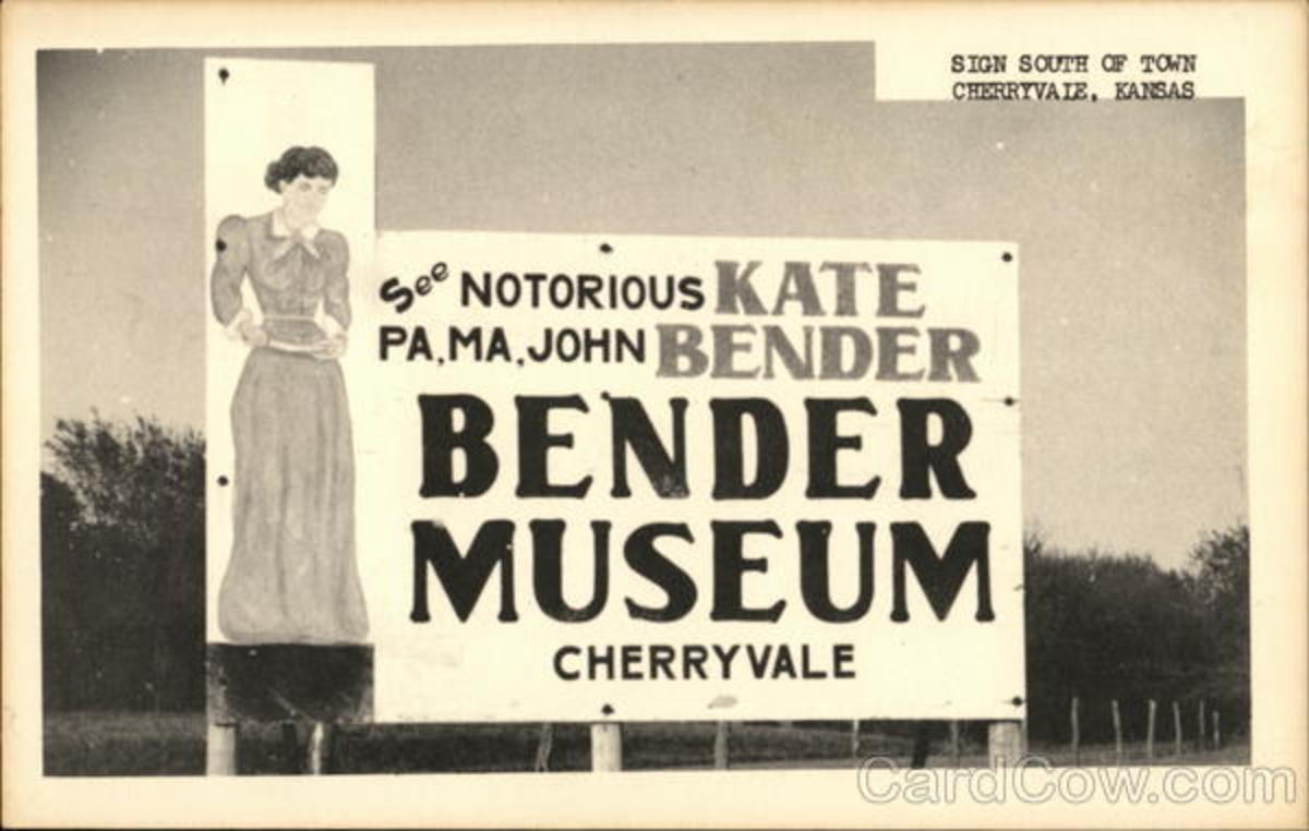 A billboard advertising the Bender Museum.