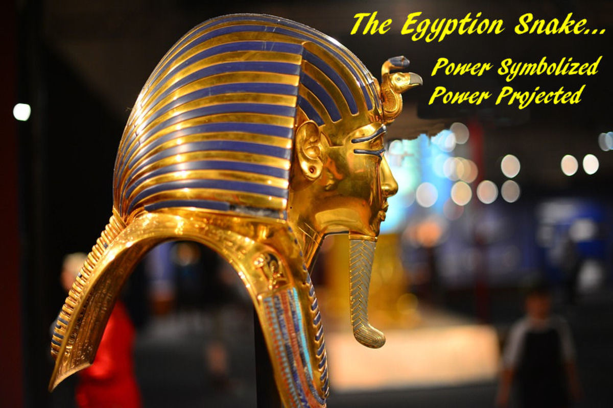 Egyption Statue Snake Power Symbol