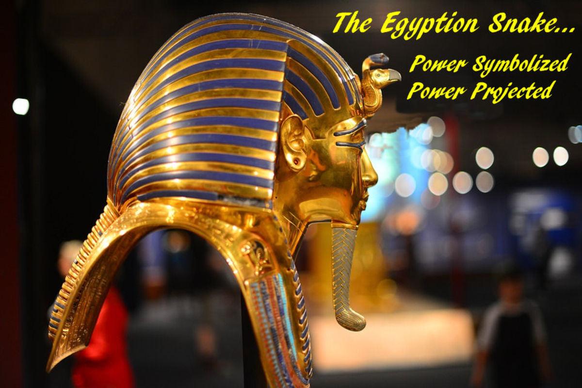 Egyption Statue Snake Power Symbol