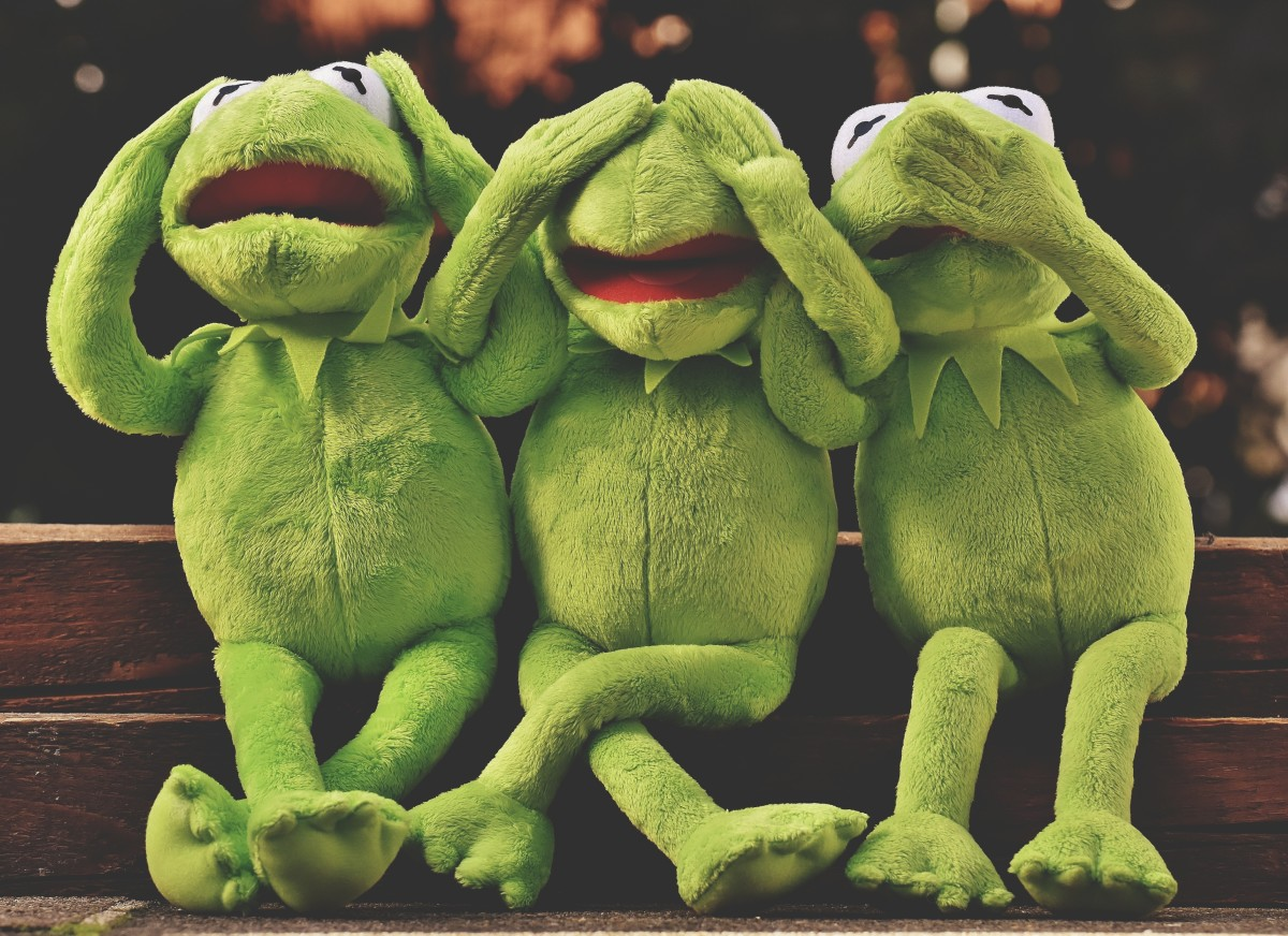Kermit the Frog does not want to see, hear, or speak about evil frogs in dreams.