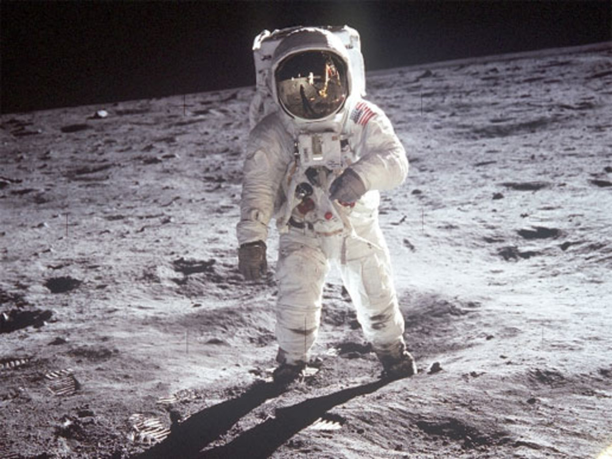 Some people believe the moon landings were fake.