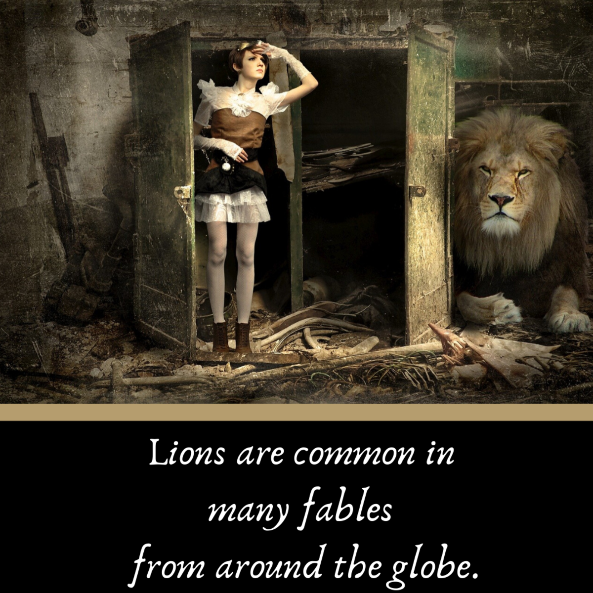 Lions show up in fables all over the world.