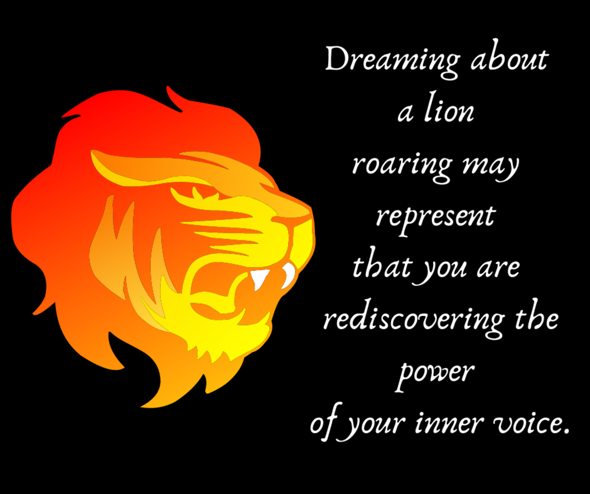 A dream about a roaring lion can symbolize you finding your inner strength to express yourself.