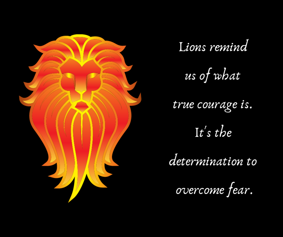 Lions are powerful symbols of courage.
