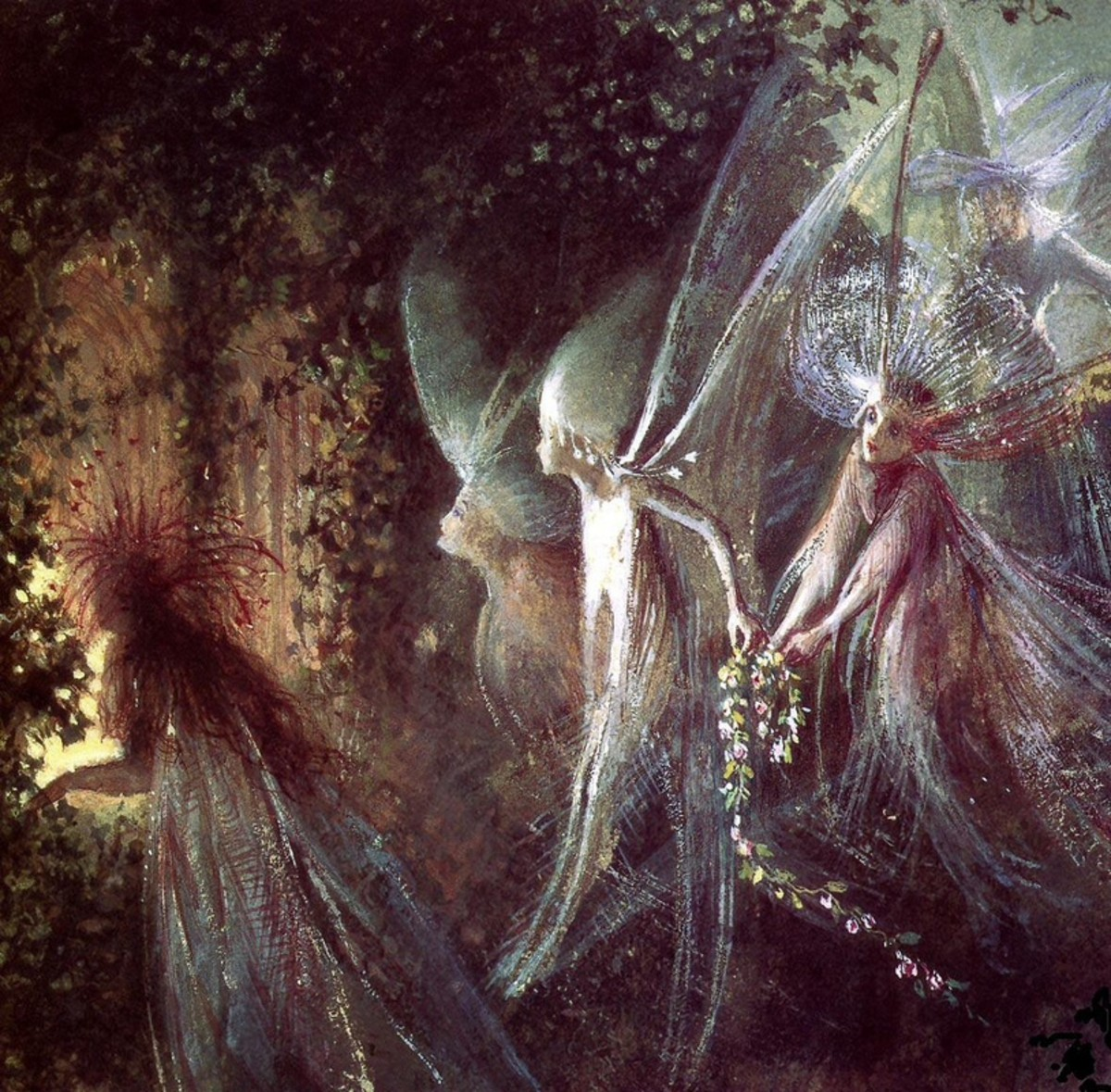 """Faeries Looking Through a Gothic Arch"" ~Fitzgerald"