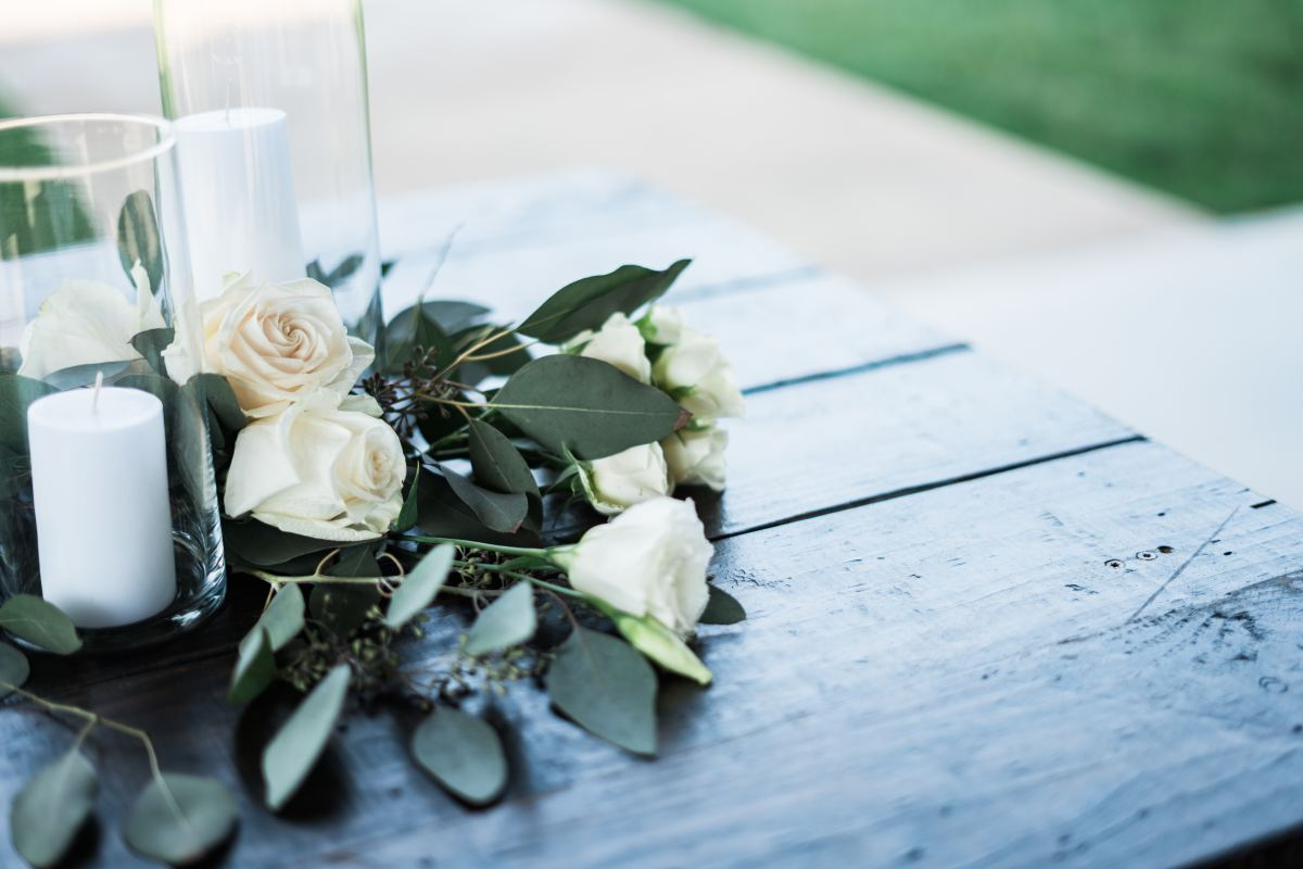 White flowers to adorn the altar.