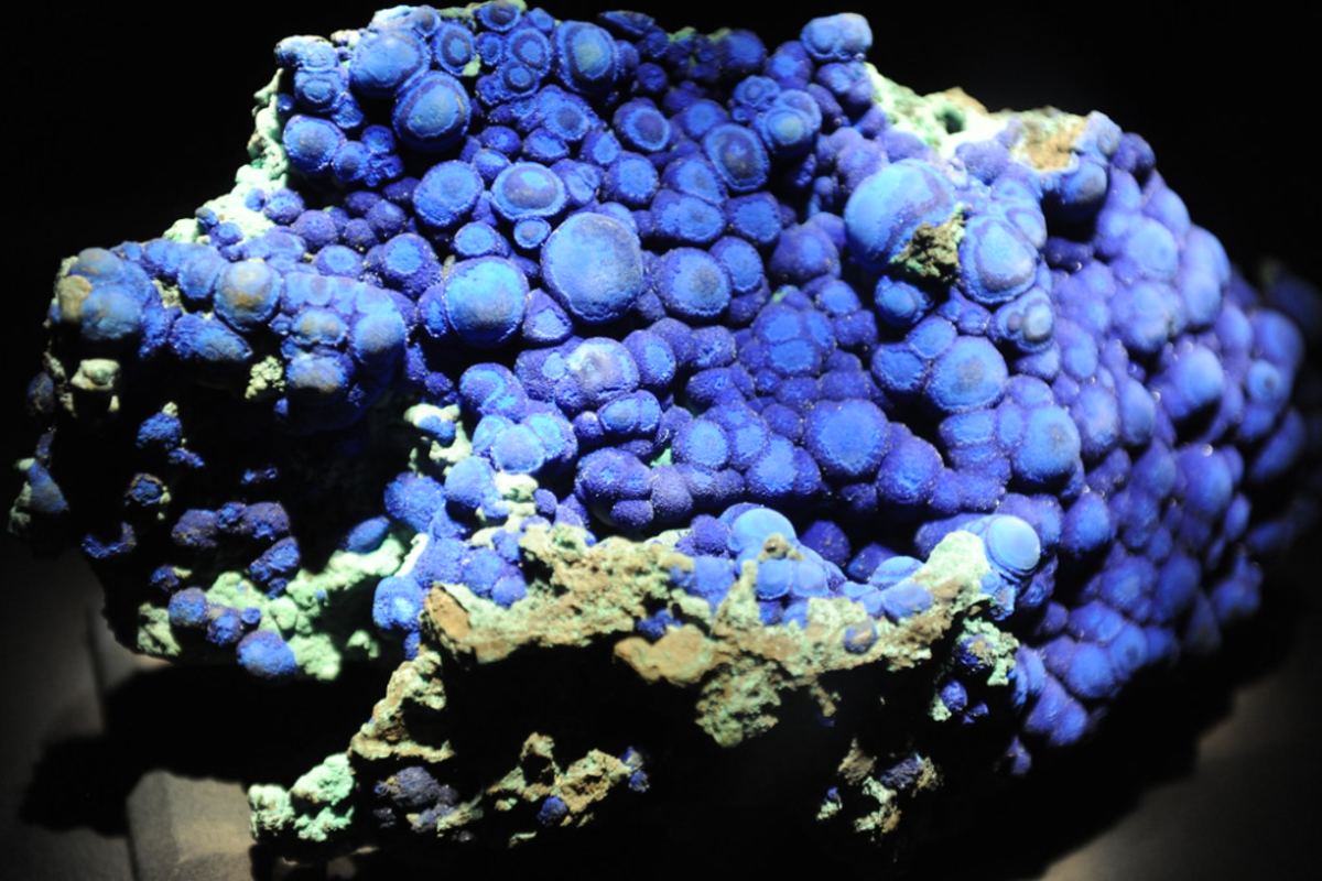 Azurite is linked to the throat chakra and is believed to be a very healing crystal.