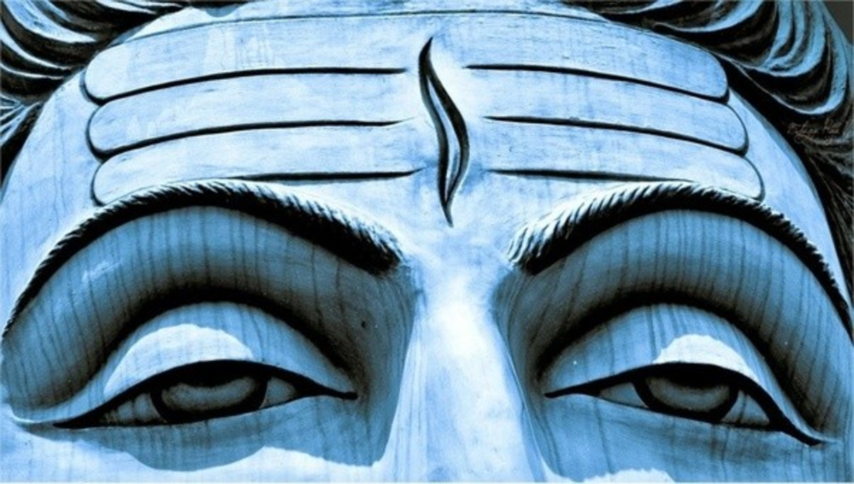 The eyes of Lord Shiva