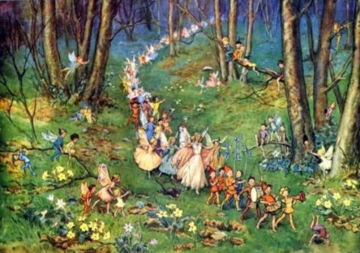 """Procession of Twelve Good Faeries"" from Sleeping Beauty by Errol Le Cain."