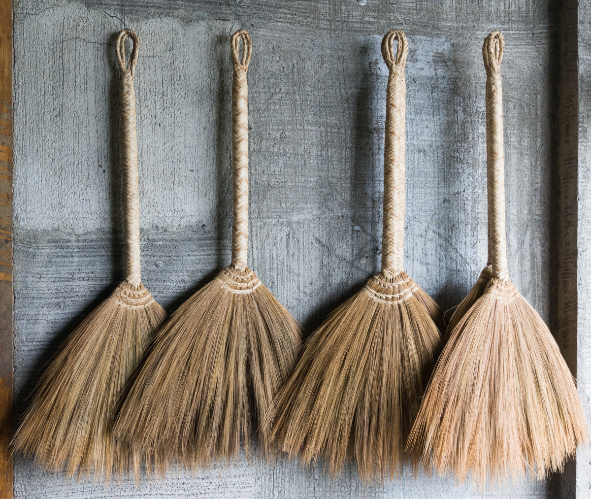 Brooms used as altar tools are usually a bit smaller than their housecleaning counterparts.