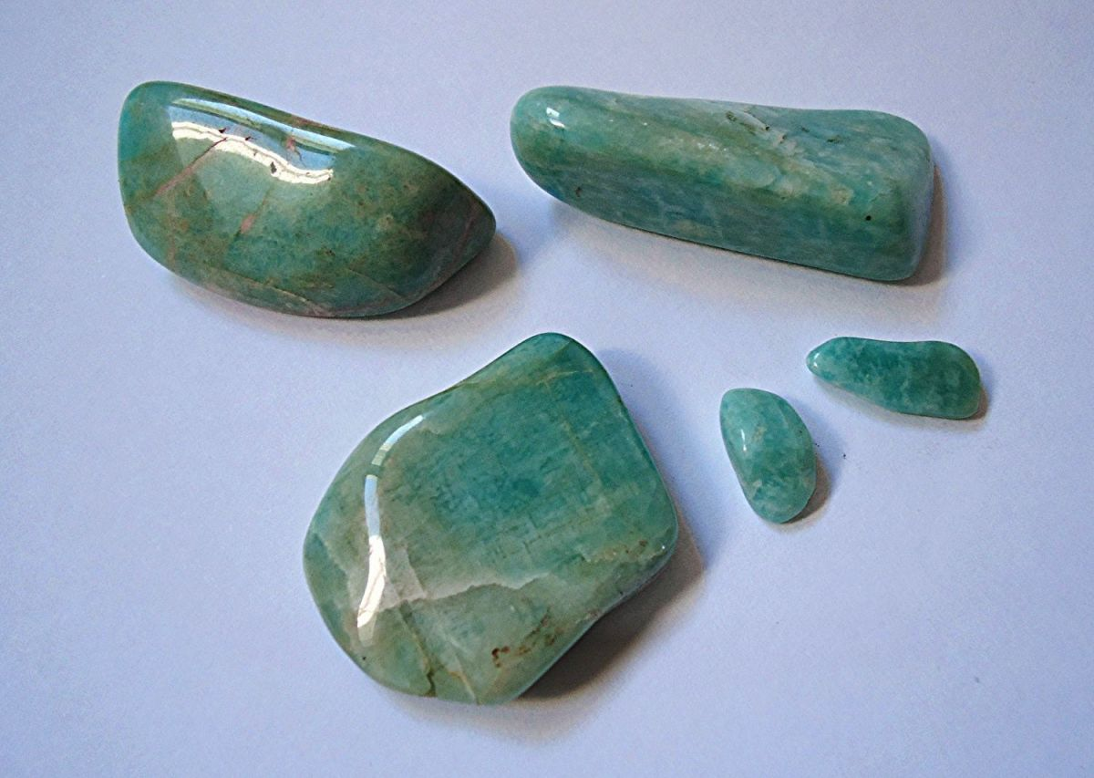 Amazonite is a balancing stone sald to attract good fortune.