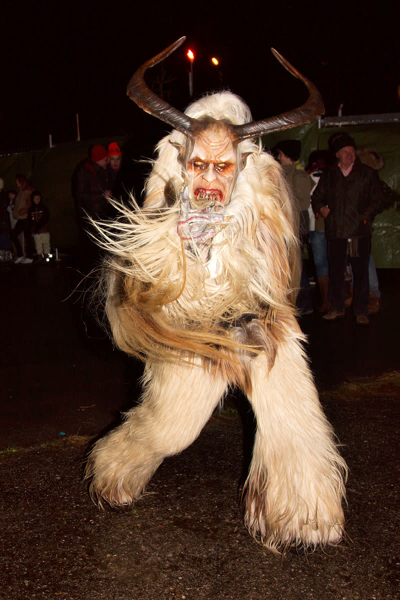 The krampus is a folklore figure from Central Europe.