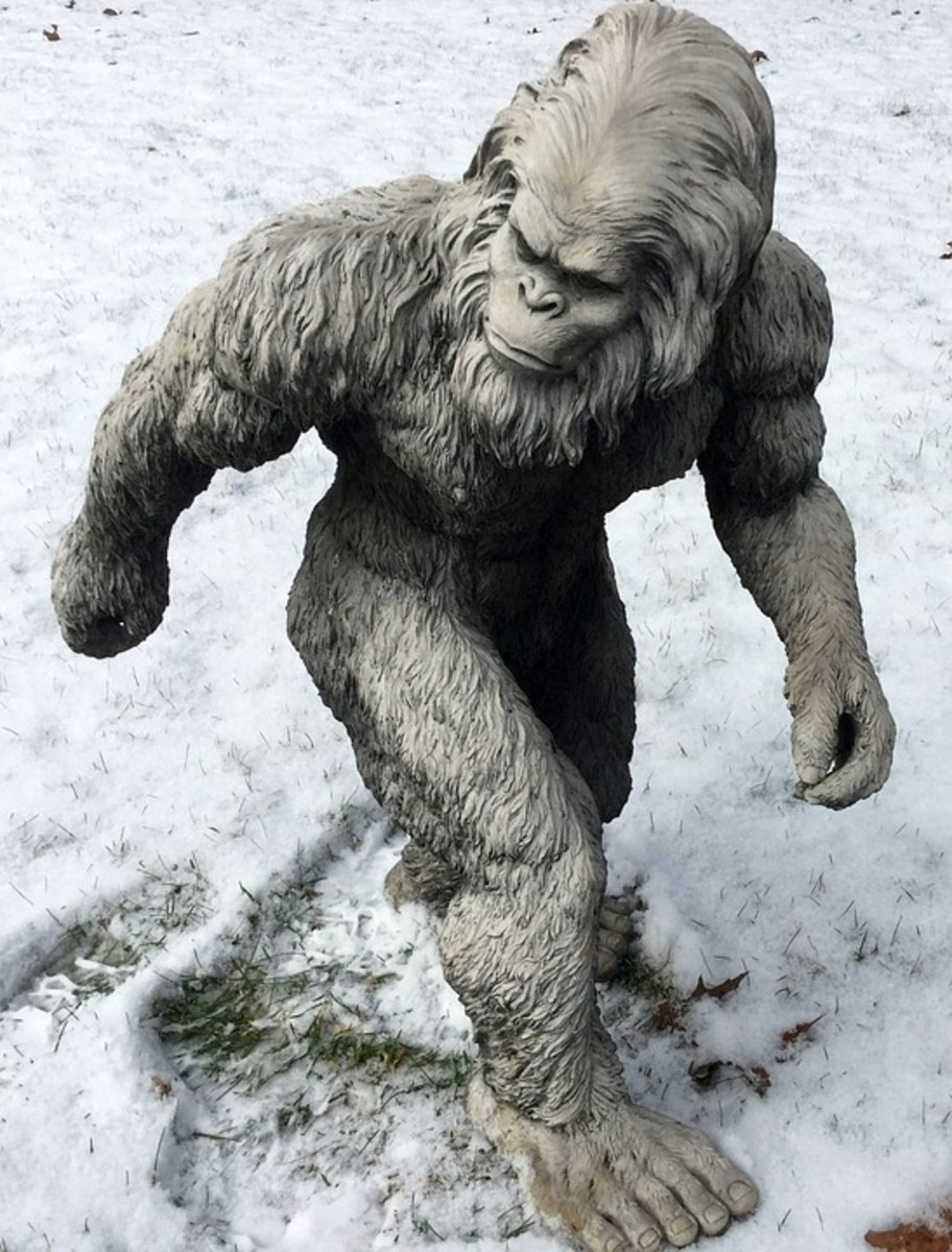 A Statue of Bigfoot
