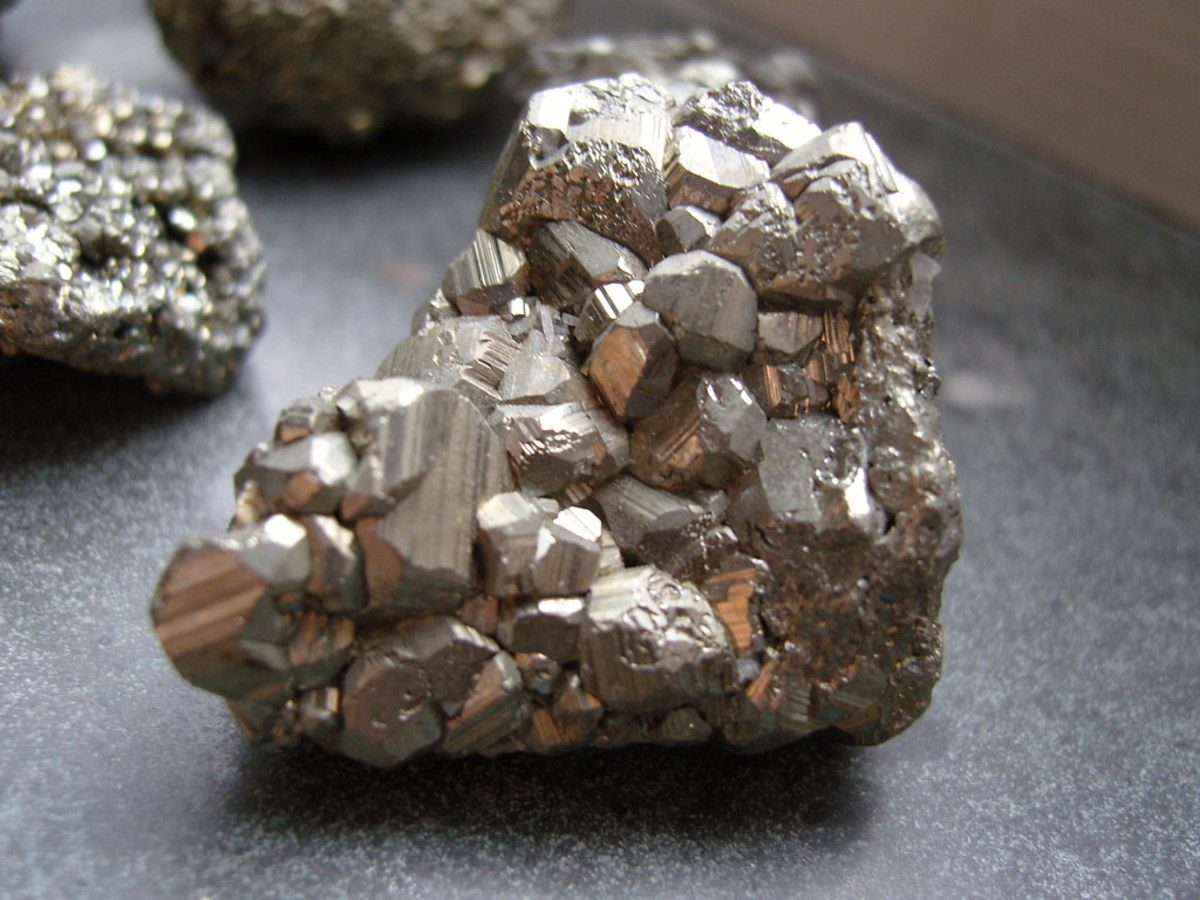 Pyrite is sometimes known as iron pyrite or fool's gold.