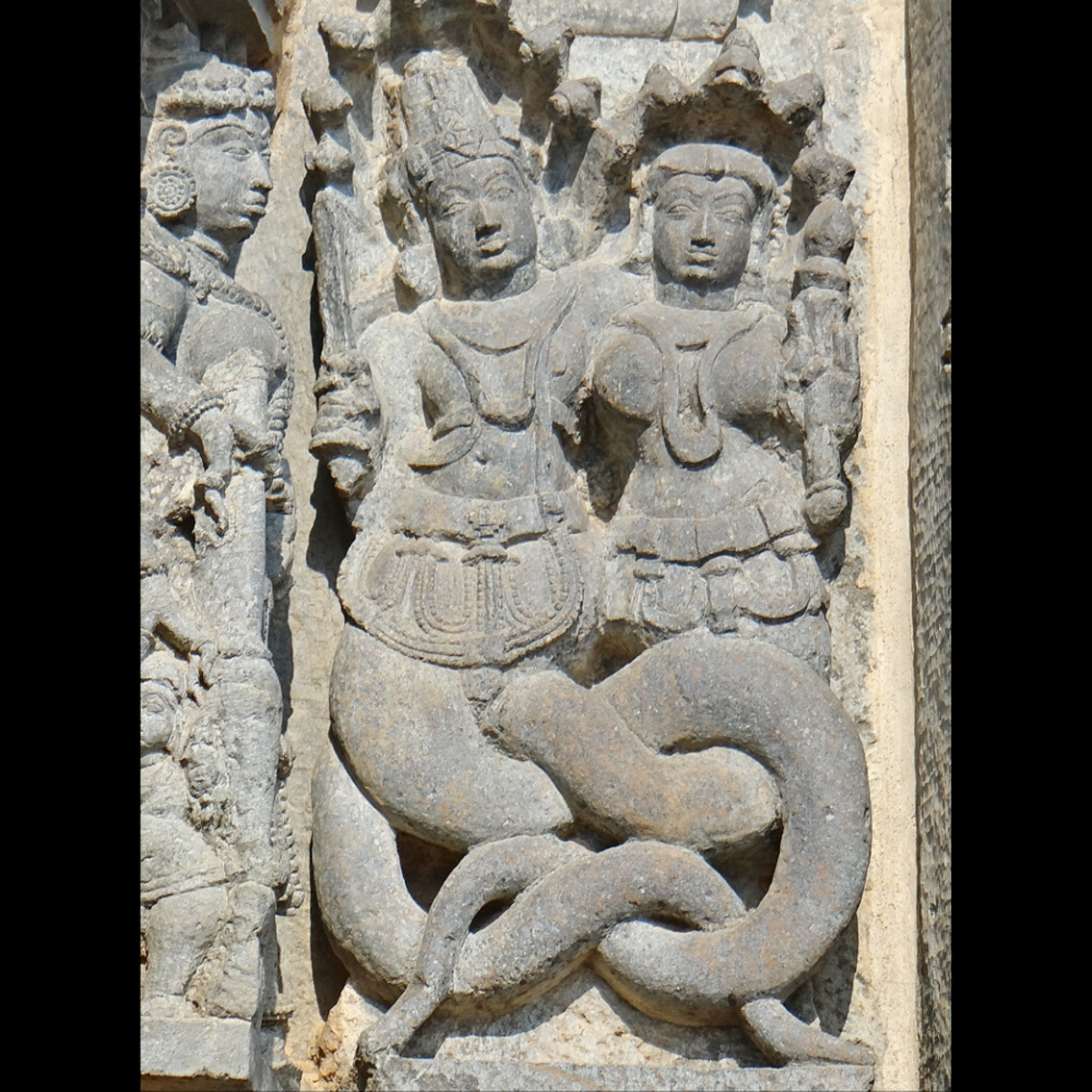 In the Hindu tradition, the half-human half-serpent naga is a semi-divine being.