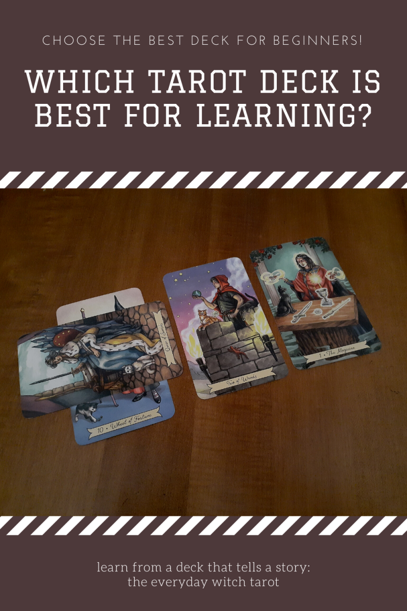 A great beginner tarot deck tells a discernible story and is easy to put the pieces of the reading together.