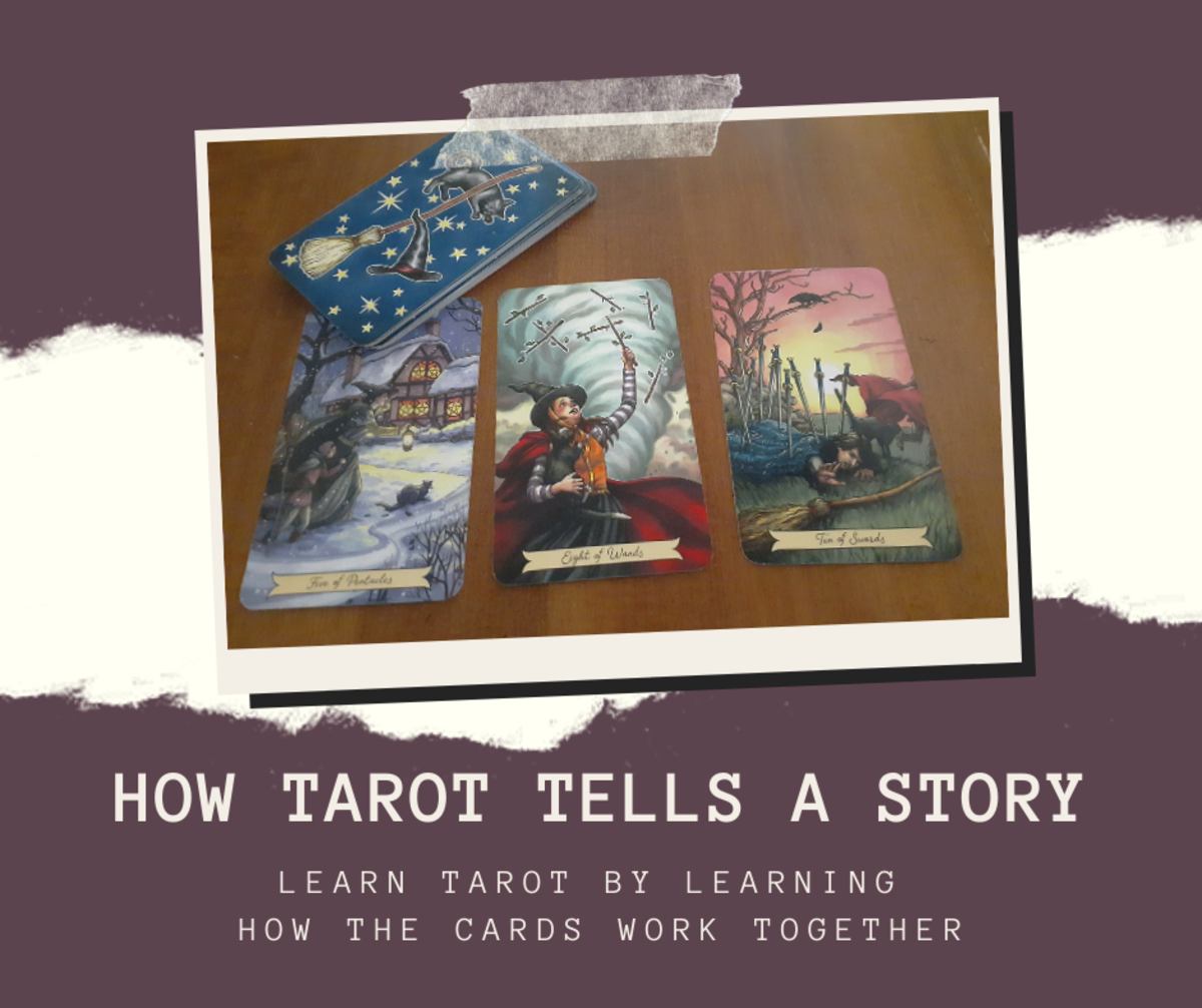 Learning to read tarot is easier when your cards tell a distinct story. Emotionally evocative cards will aid your intuition during the learning process.