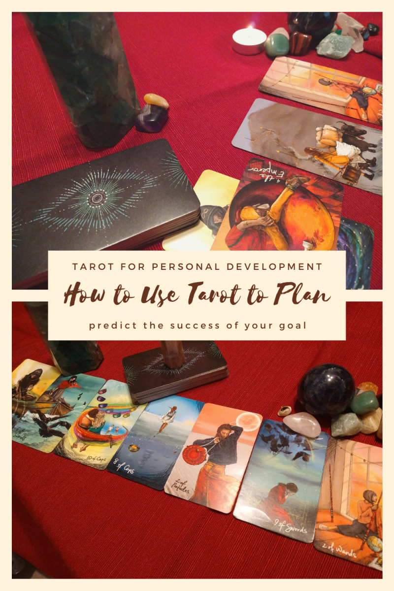 In two steps you can have a completed plan, including your action plan. Tarot is a remarkable tool for personal development!