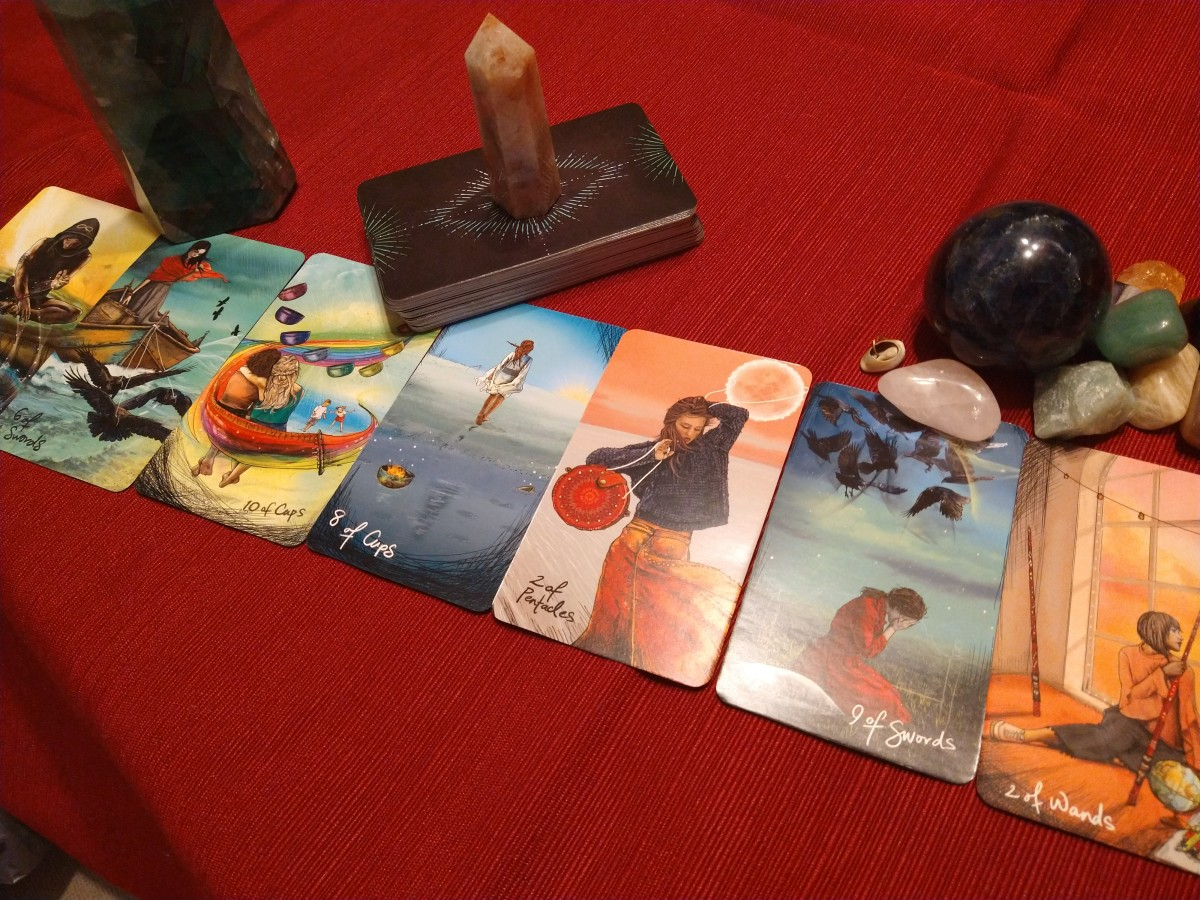 To determine the steps to your plan, you may take the first and the fourth card from your original reading and lay five cards between them. Then read these cards sequentially.