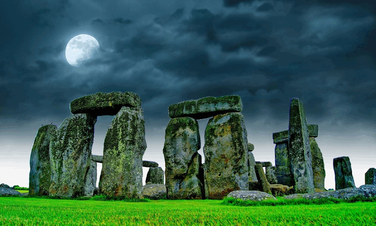 Stonehenge is magical under moonlight.